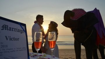 Phuket Beach Elephant Marriage