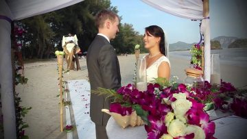 Krabi Beach Elephant Wedding