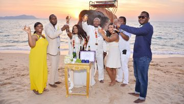 Pattaya Beach Elephant Wedding