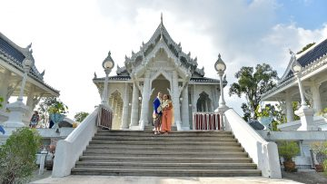 December 25, 2019 – Krabi Temple – Buddhist Blessing – Janet and Thomas (German + German)