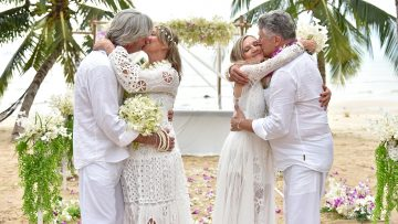 February 19, 2020 – Koh Samui – Buddhist Blessing – Corinne and Frederic + Marie Claude and Gerald